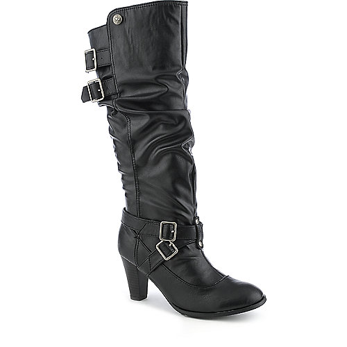 Groove Minnie womens black knee high boot