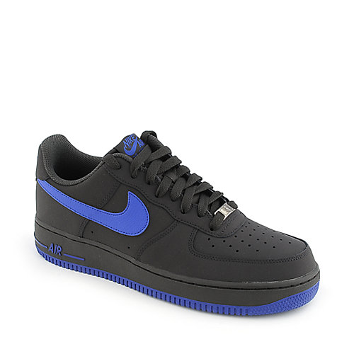 Nike Air Force 1 grey an blue mens athletic basketball sneaker