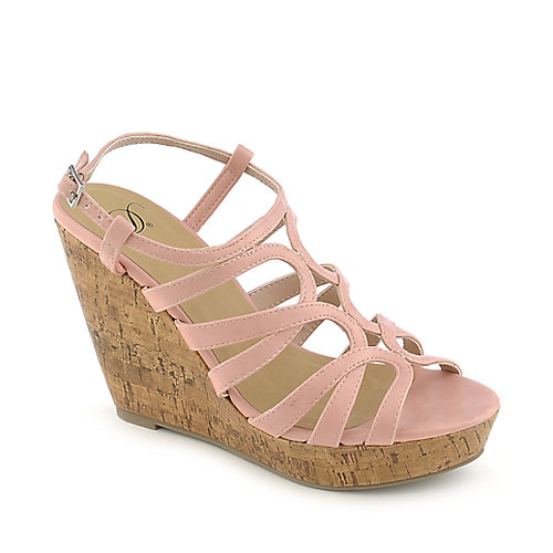 Delicious Syrus-H pink casual platform wedge shoe