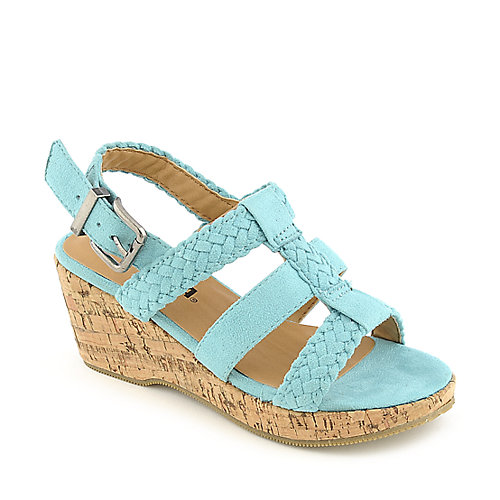 Soda Sotto-IIS kids platform wedge sandal