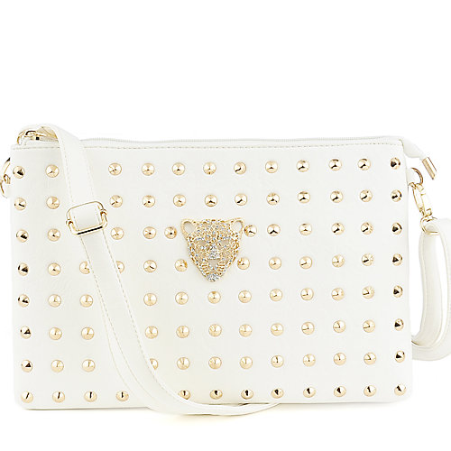 Yoki Studded white Shoulder Bag