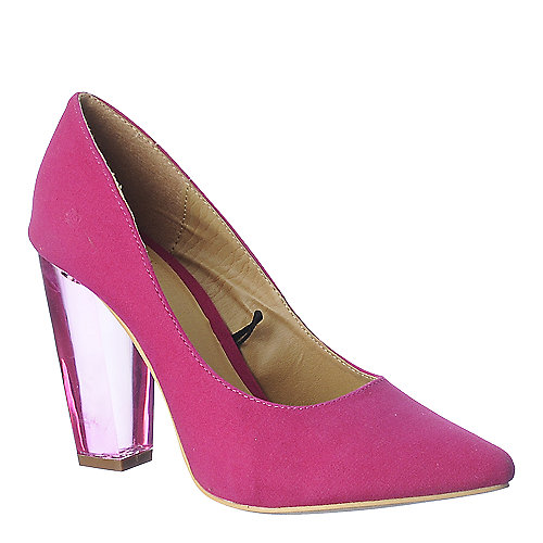 Shiekh Womens Pump 105 fuschia clear high heel shoe