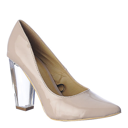 Shiekh Womens Pump 105 nude clear high heel shoe