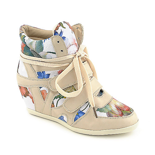 Glaze Alana-9 womens casual lace up sneaker wedge