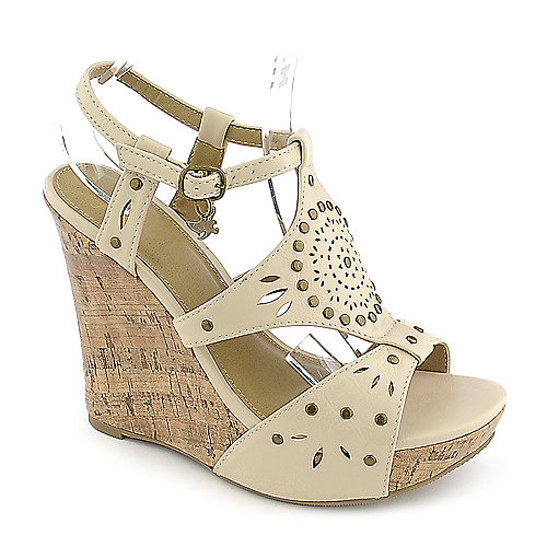 Shiekh Rizzo-S nude casual platform wedge shoe