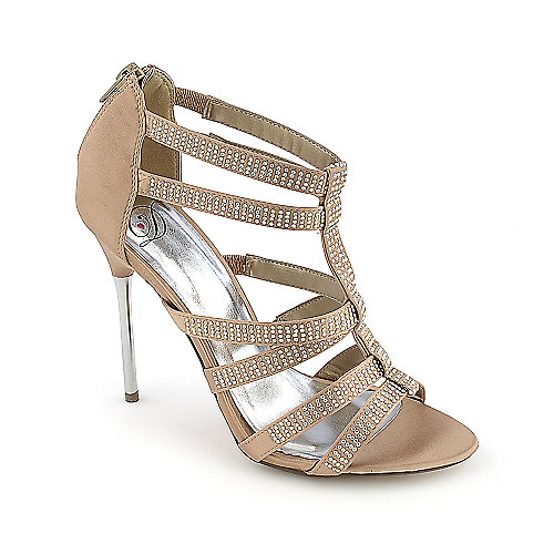 Surya-S champagne evening high heel dress shoe
