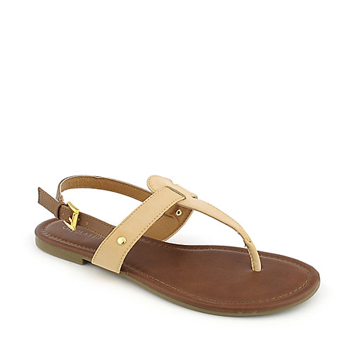 City Classified Lotus-S natural flat thong sandal