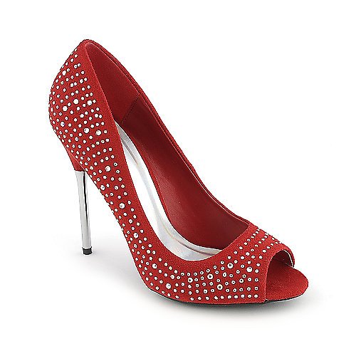 Delicious Hutch-S red evening high heel dress shoe
