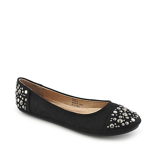 Soda Nordic-S casual black flat slip on