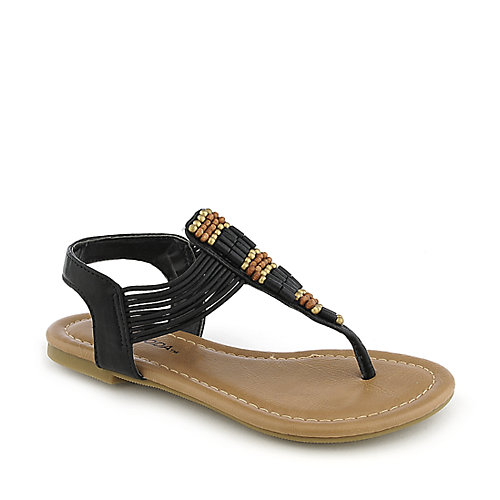 Soda Larry-IIS kids black flat sandal