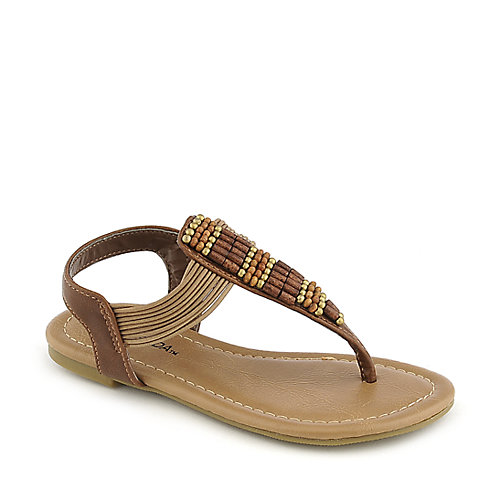Soda Larry-IIS kids tan flat sandal