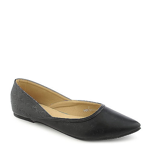 Shiekh Lynnda-1-S black flat slip on shoe
