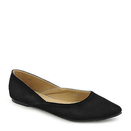 Shiekh Lynnda-1-S black flat casual slip on shoe