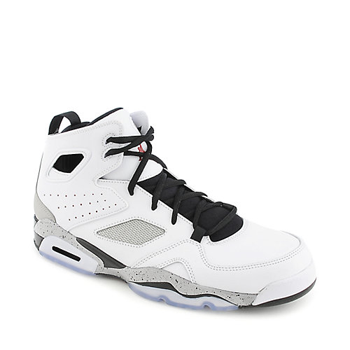 Jordan FLTCLB '91 mens white an black athletic basketball sneaker
