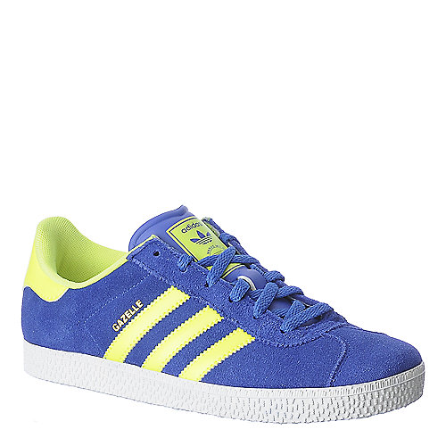 Adidas Gazelle 2 J mens blue athletic running sneaker
