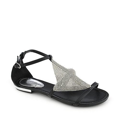 88d7daf5a Breckelle s Dior-01 black flat strappy sandal
