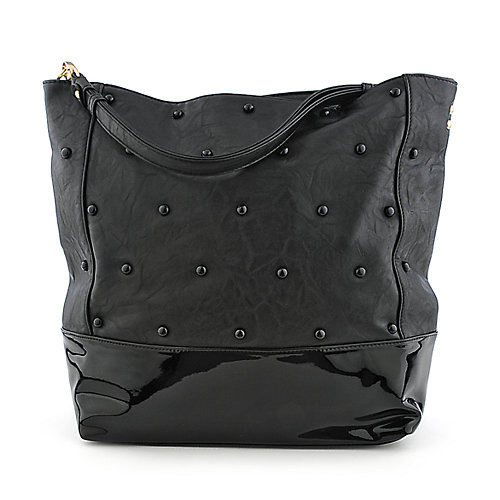 She an Josh Studded Tote black shoulder bag