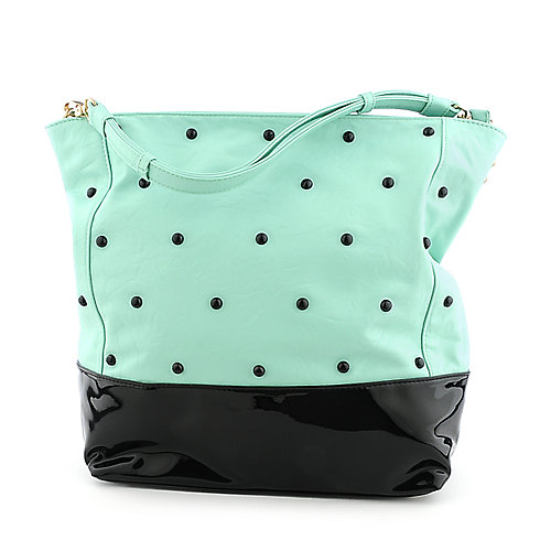 She an Josh Studded Tote mint green shoulder bag