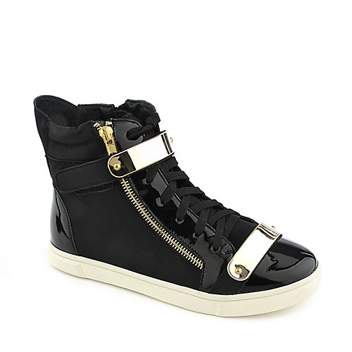 Glaze Serena-8 black casual lace up sneaker wedge shoe