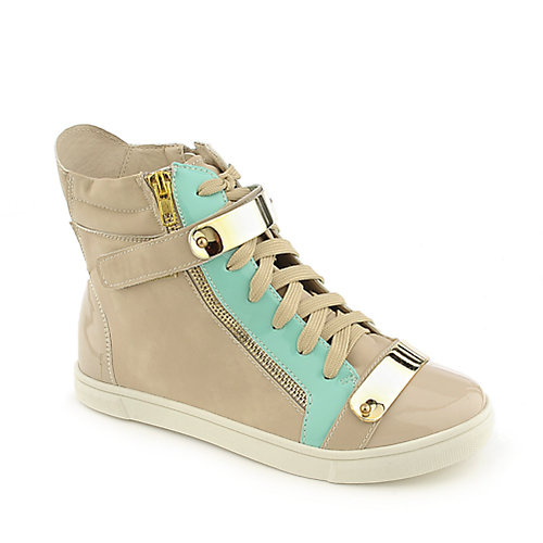 Glaze Serena-8 beige casual lace up sneaker wedge shoe