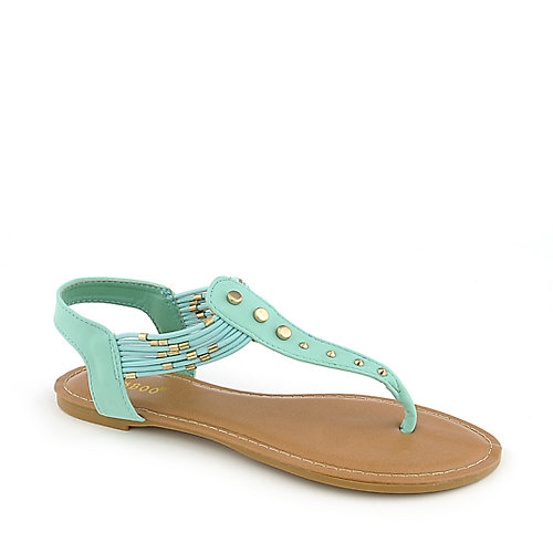 Bamboo Cope-21 mint green flat thong sandal