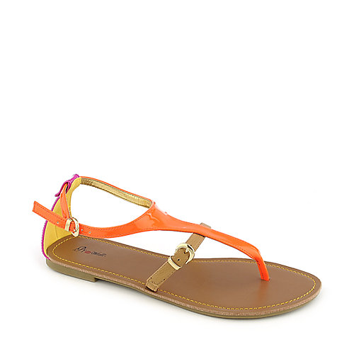 Promise Roana orange flat thong sandal