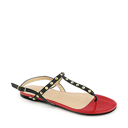Promise Top black flat thong sandal
