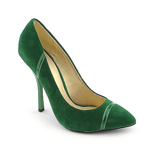Shoe Republica LA Silva green high heel pump