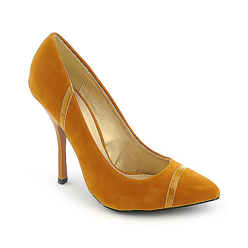 Shoe Republica LA Silva mustard high heel pump