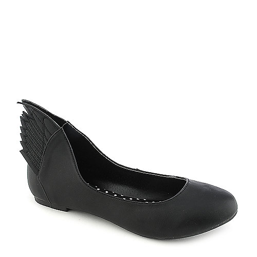 Misbehave Mazie-1 black casual flat slip on shoe