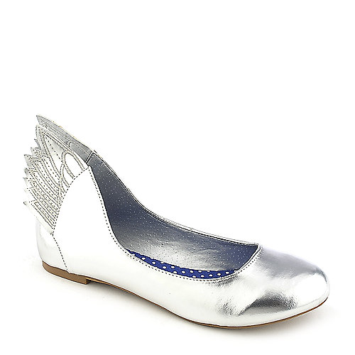 Misbehave Mazie-1 silver casual flat slip on shoe