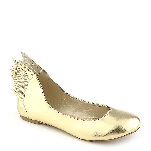 Misbehave Mazie-1 gold casual flat slip on shoe