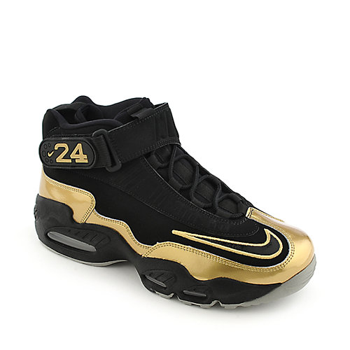 3ba29798cf0f9d Nike Air Griffey Max 1 mens black an gold athletic basketball sneaker