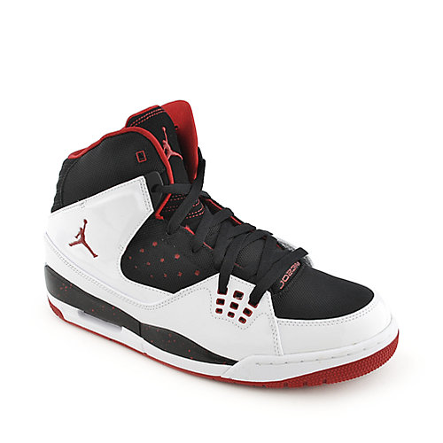 Jordan SC-1 white black an red mens athletic basketball sneaker