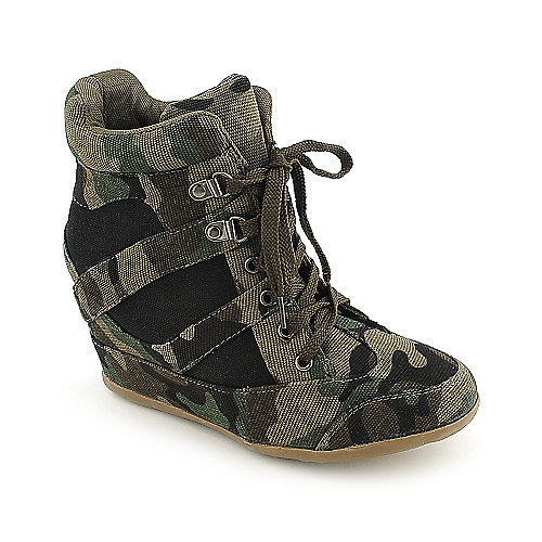 Nature Breeze Dana-13 casual camo sneaker wedge