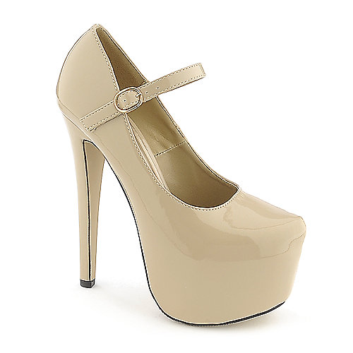 Glaze Nelly-2 nude platform high heel dress shoe
