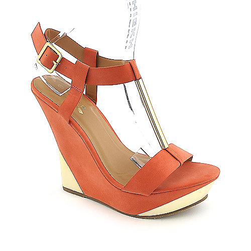 Glaze Verna-3 coral platform wedge dress shoe