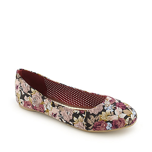 Anna Foret Starla-137 burgundy casual flat slip on shoe