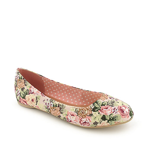 Anna Foret Starla-137 pink casual flat slip on shoe