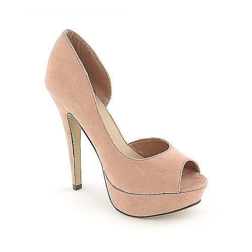 Breckelle's Lilian-01 womens dress high heel platform d'orsay pump