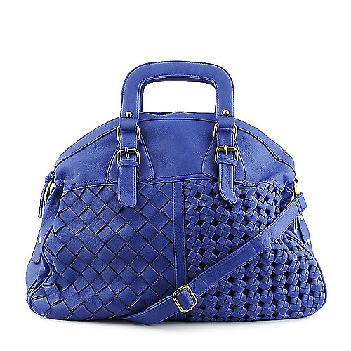 Yoki Weave Handbag blue hobo bag