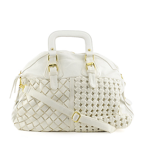 Yoki Weave Bag white shoulder bag hobo