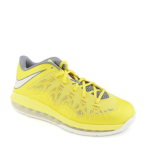 Nike Air Max Lebron X Low mens yellow athletic basketball sneaker