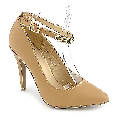 Shoe Republica LA Blanco womens camel high heel pump dress shoe