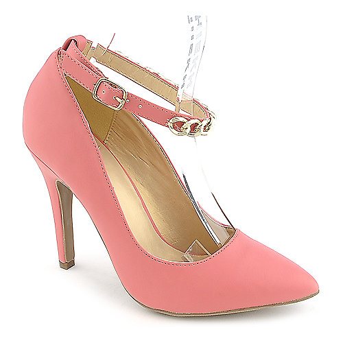 Shoe Republica LA Blanco womens coral high heel pump dress shoe