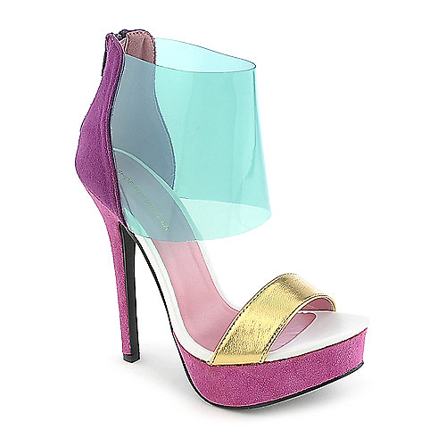 Shoe Republic LA Susanna multi color platform color block high heel