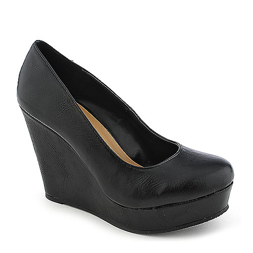 Shiekh Beer-S black platform wedge pump
