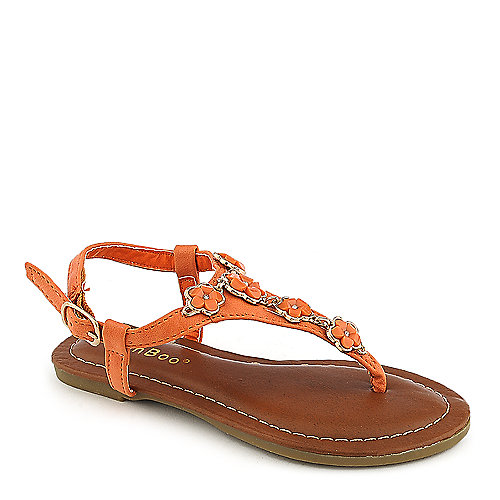 Bamboo Javier-02K kids orange flat sandal