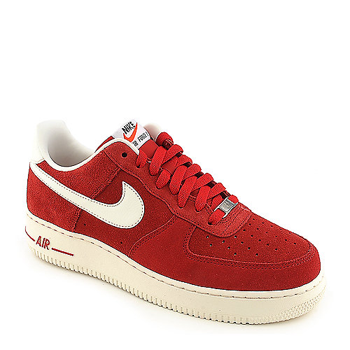 Nike Air Force 1 red athletic suede basketball sneaker