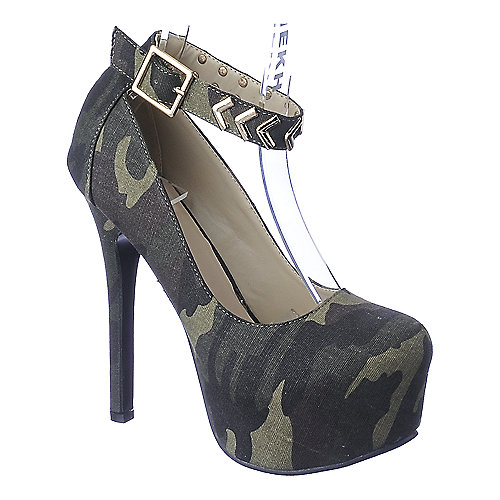 Shiekh Kari-18 camo platform high heel pump